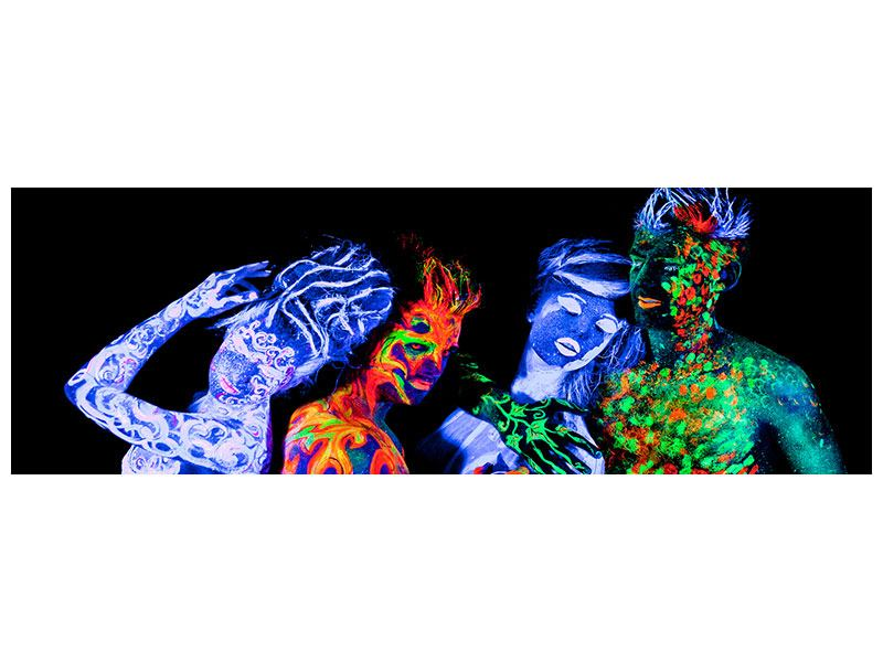 Metallic-Bild Panorama Bodypainting