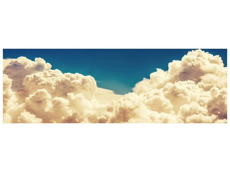 Metallic-Bild Panorama Himmelswolken