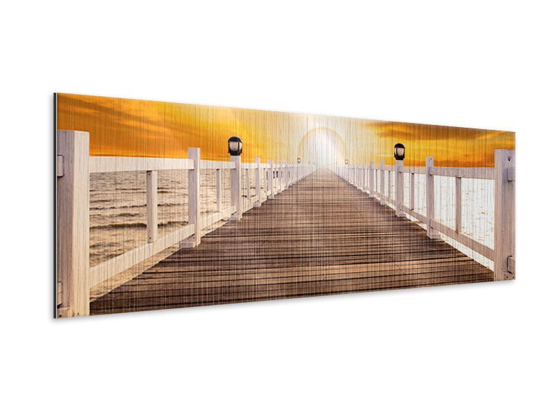 Metallic-Bild Panorama Die Brücke Ins Glück