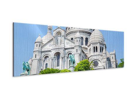 Metallic-Bild Panorama Paris- Montmartre