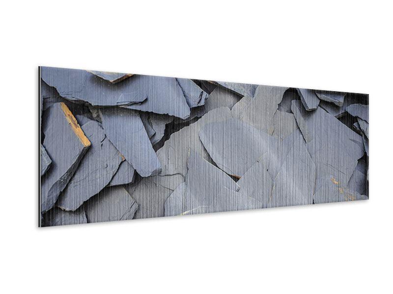 Metallic-Bild Panorama Schieferplatten