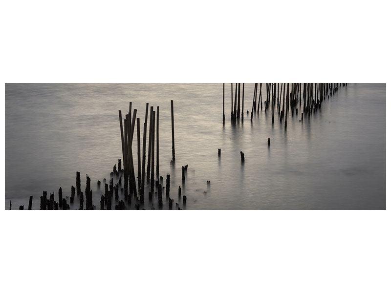 Metallic-Bild Panorama Das Meer und die Träne