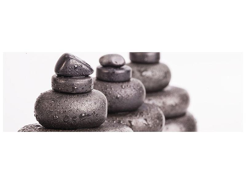 Metallic-Bild Panorama Die Kraft der Steine