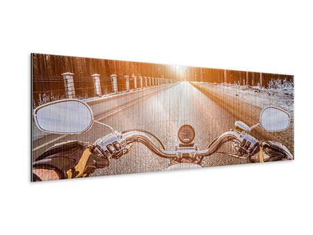 Metallic-Bild Panorama Auf dem Motorrad