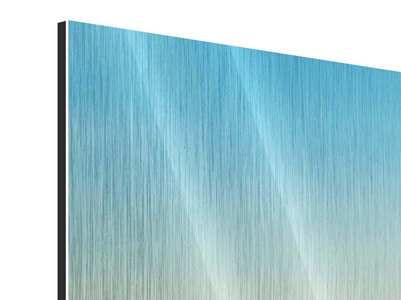 Metallic-Bild Panorama Dämmerung über den Wolken