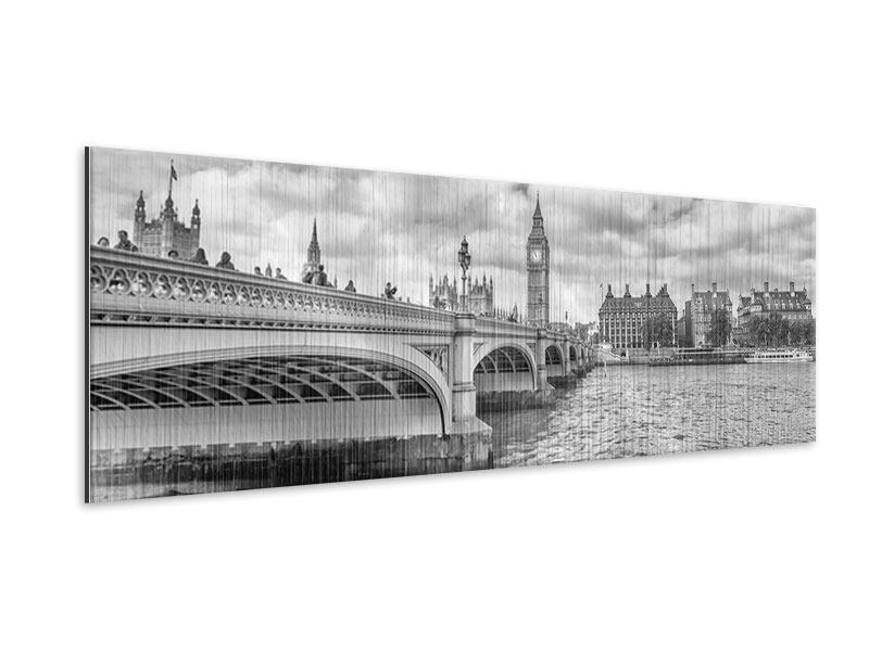 Metallic-Bild Panorama Westminster Bridge