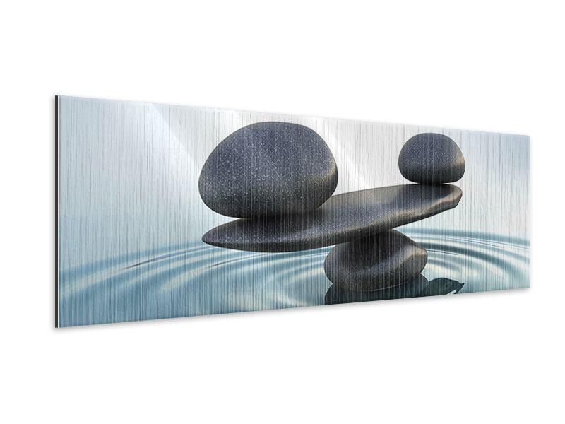 Metallic-Bild Panorama Steinbalance