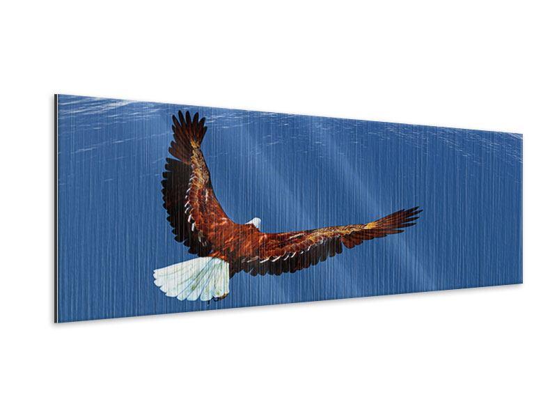 Metallic-Bild Panorama Der Adler