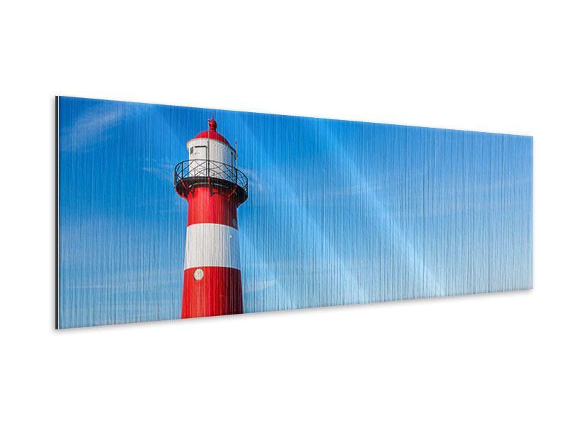Metallic-Bild Panorama Sommer beim Leuchtturm