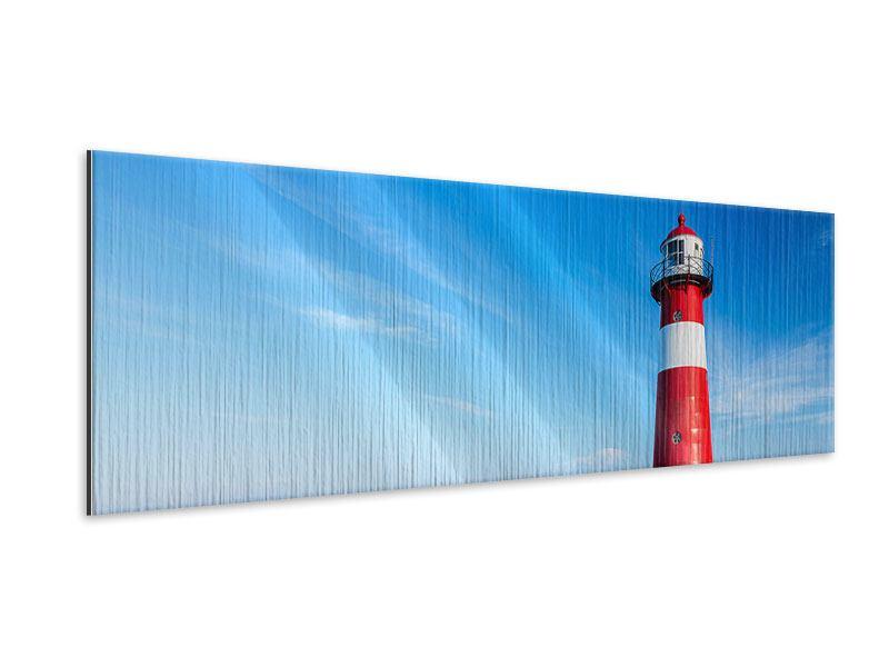 Metallic-Bild Panorama Der Leuchtturm