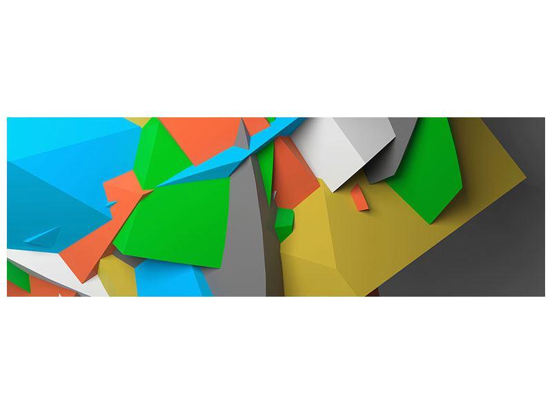 Metallic-Bild Panorama 3D-Geometrische Figuren