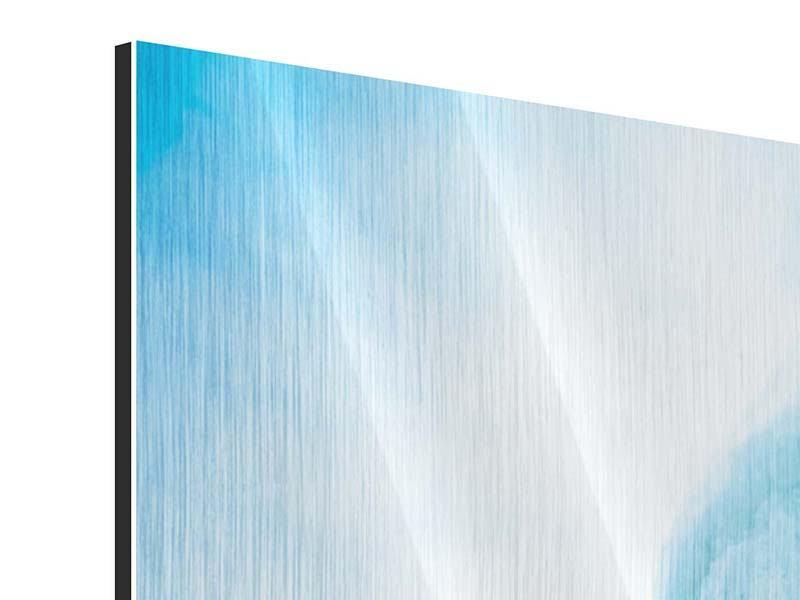 Metallic-Bild Panorama Die Eiswand