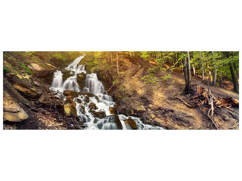 Metallic-Bild Panorama Naturschönheit