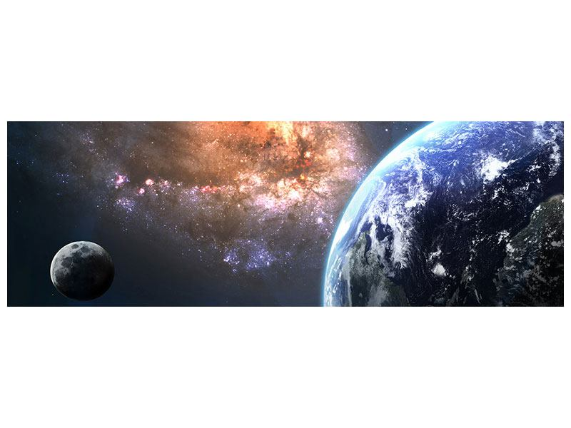 Metallic-Bild Panorama Universus