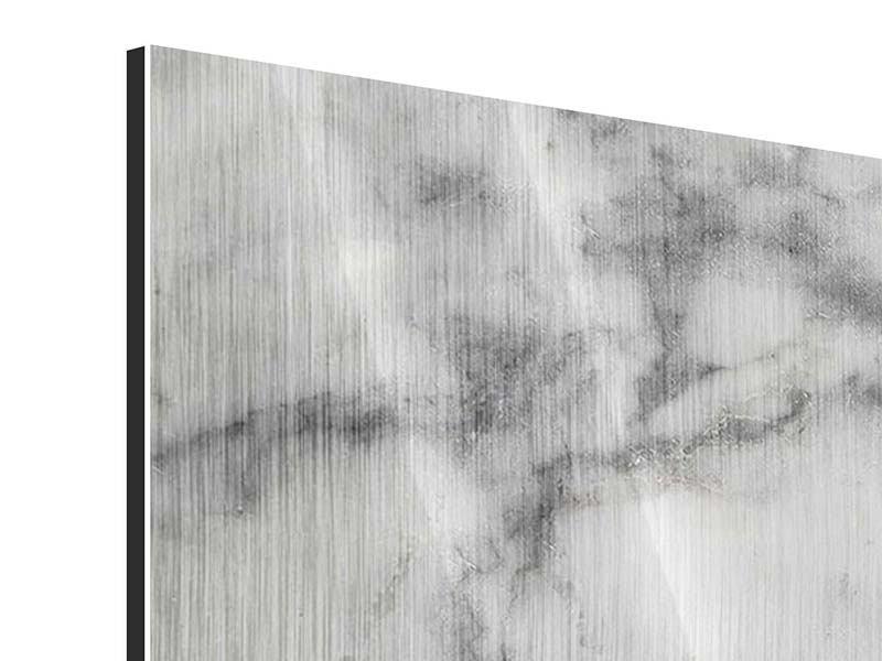 Metallic-Bild Panorama Klassischer Marmor