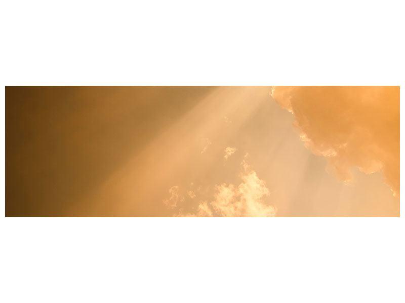 Metallic-Bild Panorama Abendhimmel