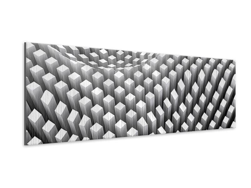 Metallic-Bild Panorama 3D-Rasterdesign