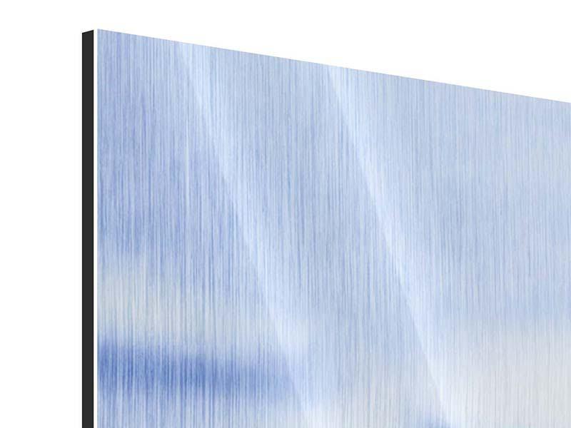 Metallic-Bild Panorama Eiswürfel