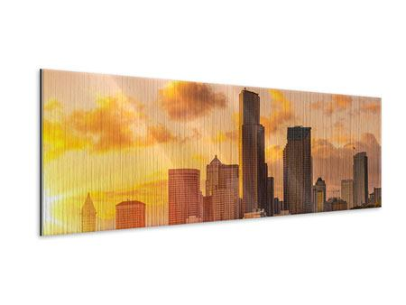 Metallic-Bild Panorama Skyline Washington