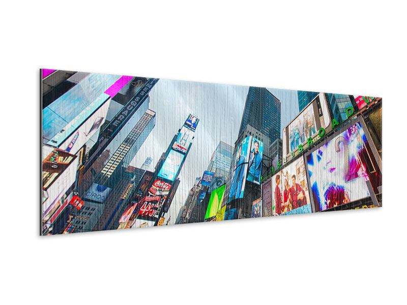 Metallic-Bild Panorama Shopping in NYC