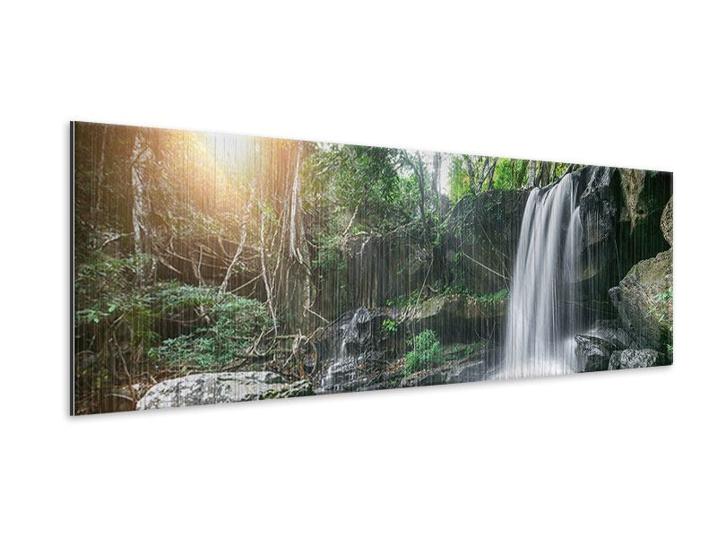 Metallic-Bild Panorama Naturschauspiel