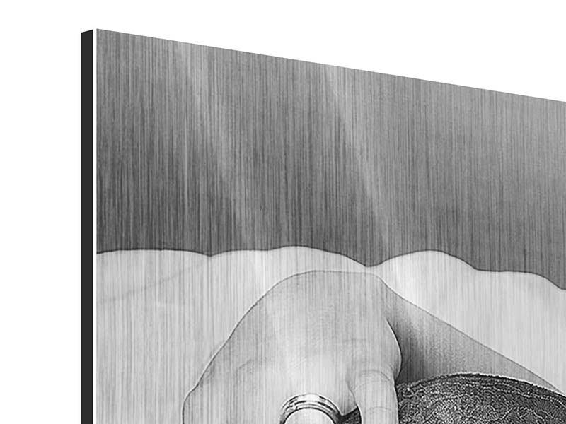 Metallic-Bild Panorama Dessous-Schönheit