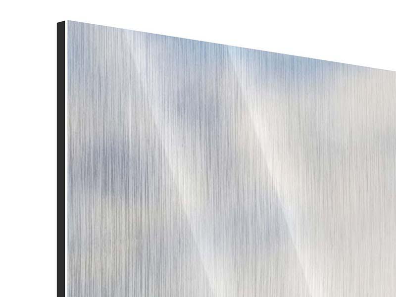 Metallic-Bild Panorama Zwei Geparden
