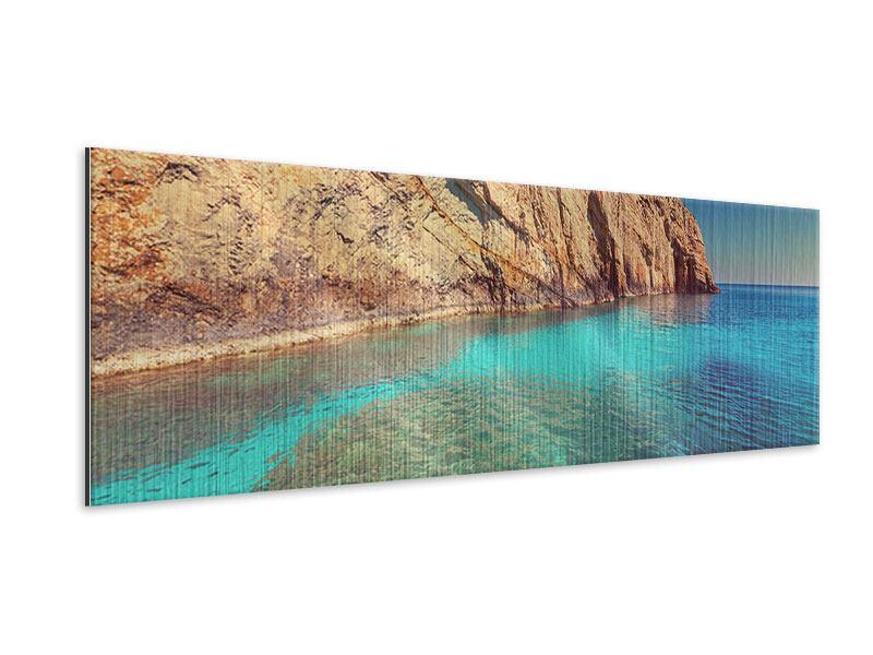 Metallic-Bild Panorama Wasser