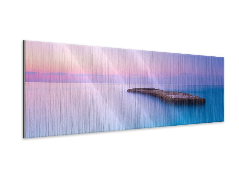 Metallic-Bild Panorama Unendlicher Ozean