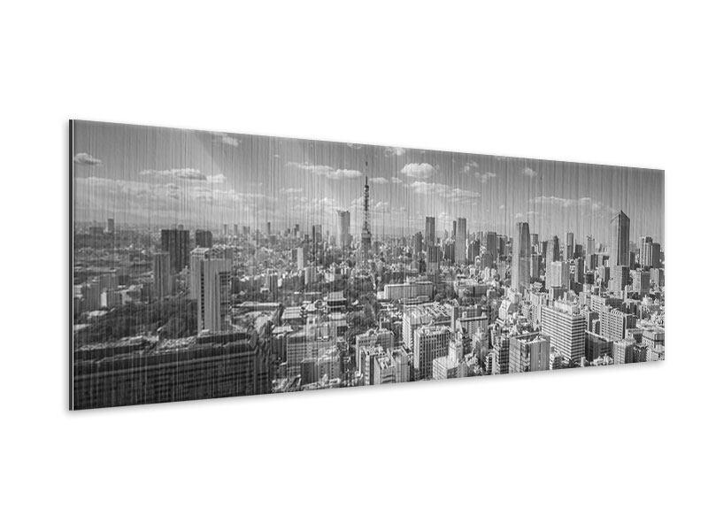 Metallic-Bild Panorama Tokio