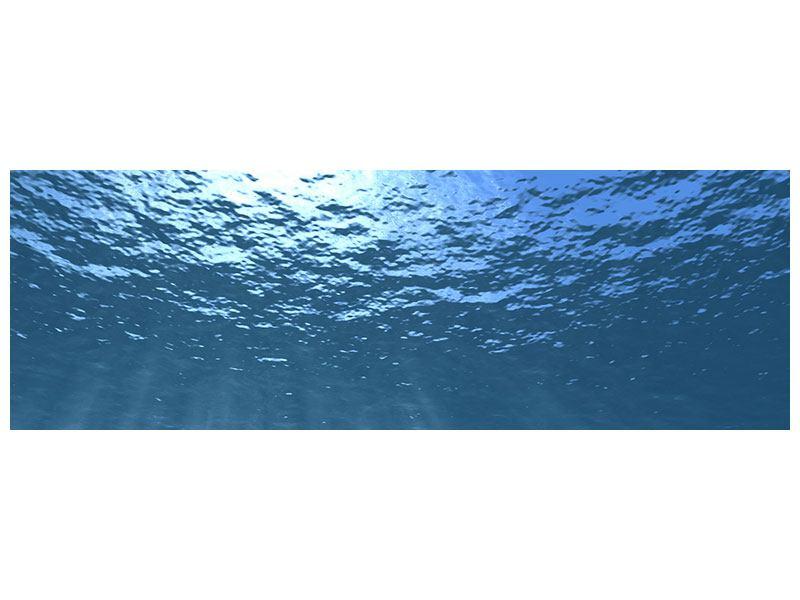 Metallic-Bild Panorama Sonnenstrahlen unter Wasser