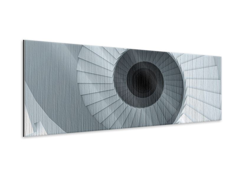 Metallic-Bild Panorama 3D Wendeltreppe