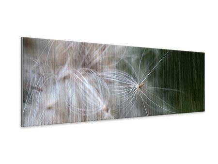 Metallic-Bild Panorama Close up Blütenfasern