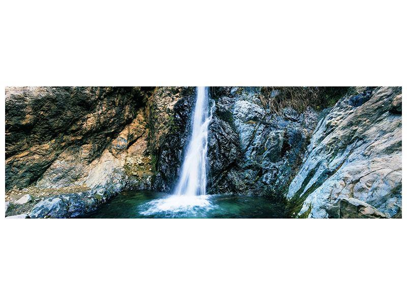 Metallic-Bild Panorama Bewegtes Wasser