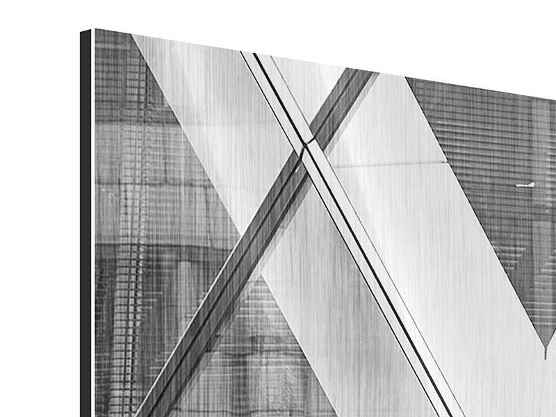 Metallic-Bild Panorama Teil eines Wolkenkratzers