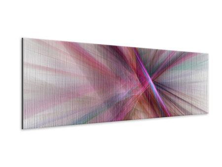 Metallic-Bild Panorama Abstraktes Lichterleuchten