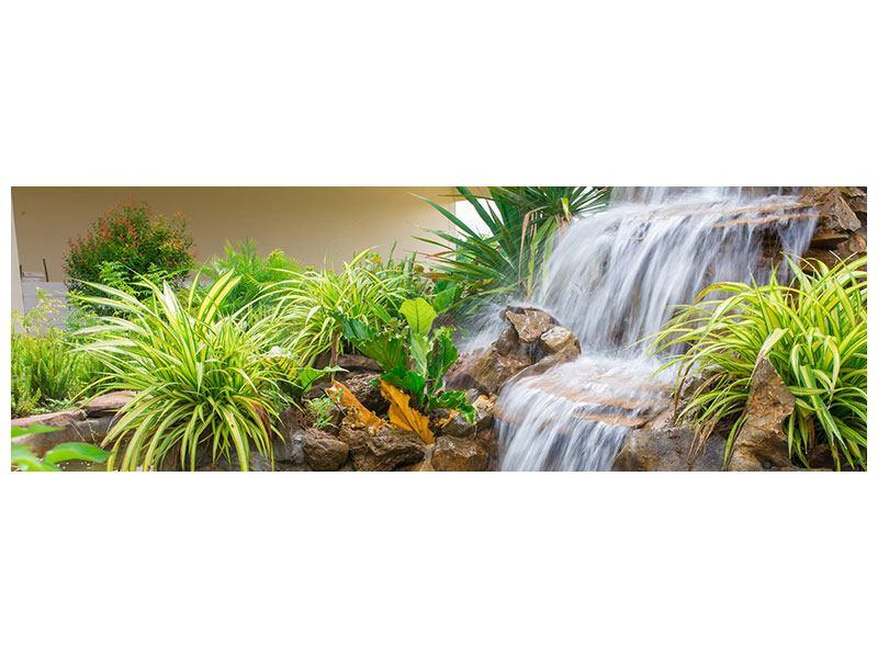 Metallic-Bild Panorama Paradiesgarten
