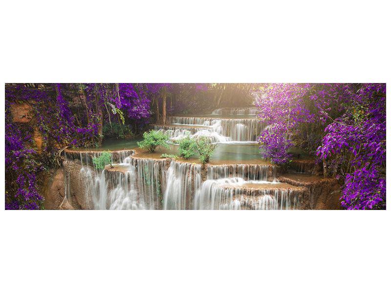Metallic-Bild Panorama Garten Eden