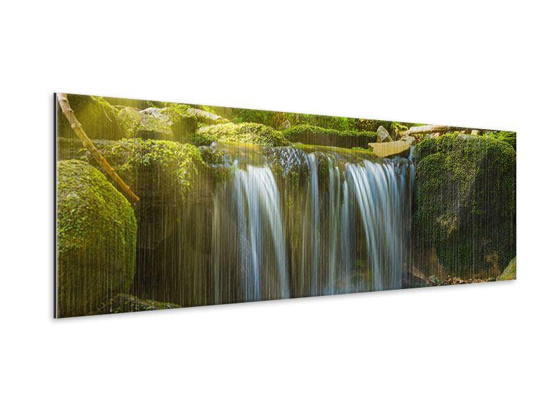Metallic-Bild Panorama Schönheit des fallenden Wassers