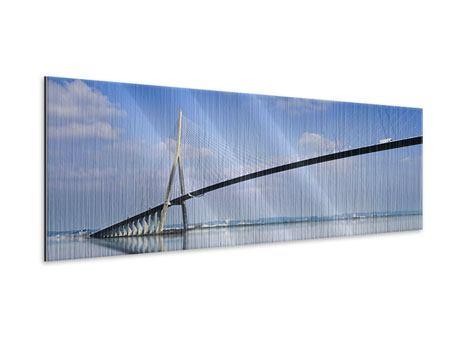 Metallic-Bild Panorama Die Pont de Normandie