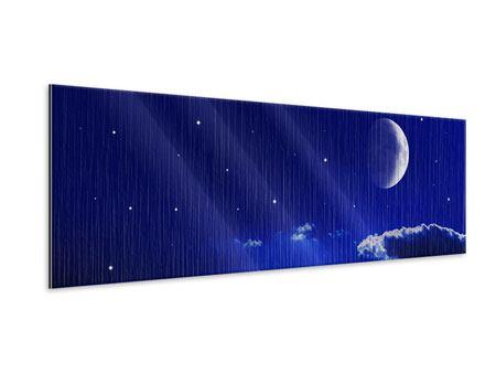 Metallic-Bild Panorama Der Nachthimmel