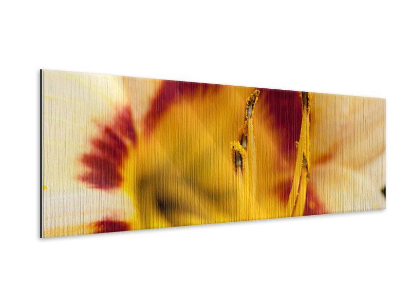 Metallic-Bild Panorama Riesenlilie