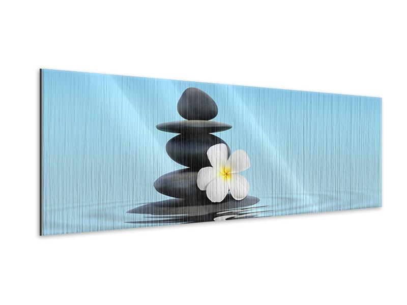 Metallic-Bild Panorama Zen Steine