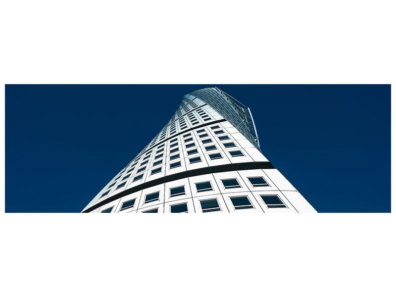 Metallic-Bild Panorama Meisterstück Wolkenkratzer