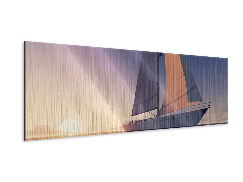 Metallic-Bild Panorama Das Segelschiff