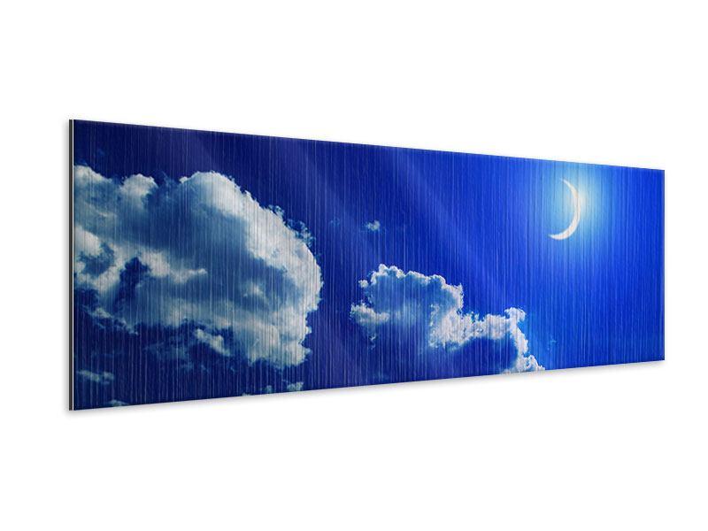Metallic-Bild Panorama Der Mond