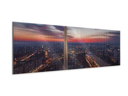 Metallic-Bild Panorama Berlin