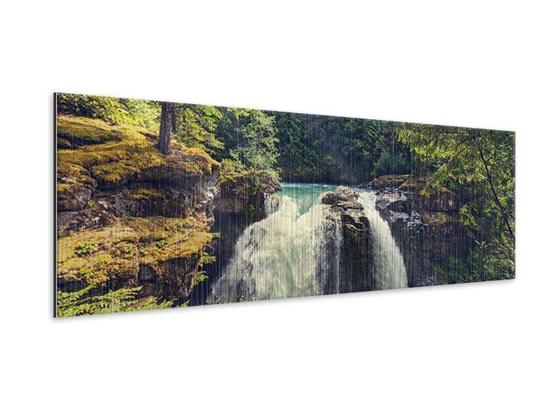 Metallic-Bild Panorama Flussströmung