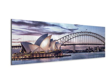 Metallic-Bild Panorama Skyline Sydney Opera House