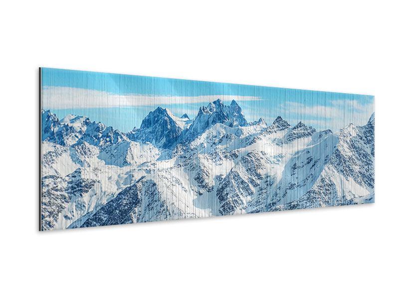 Metallic-Bild Panorama Alpenpanorama